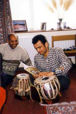 Playing the tabla